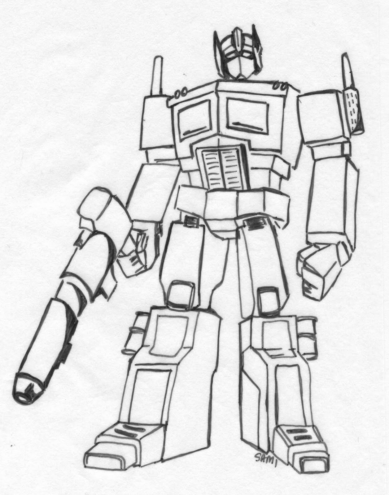 Transformers Optimus Prime Coloring Pages - High Quality ...