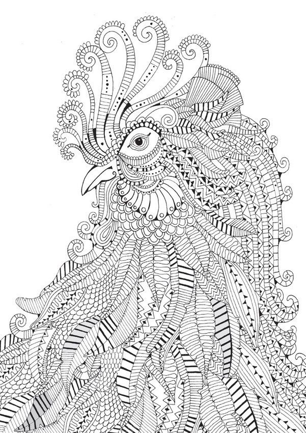 complicated house coloring pages - photo#6