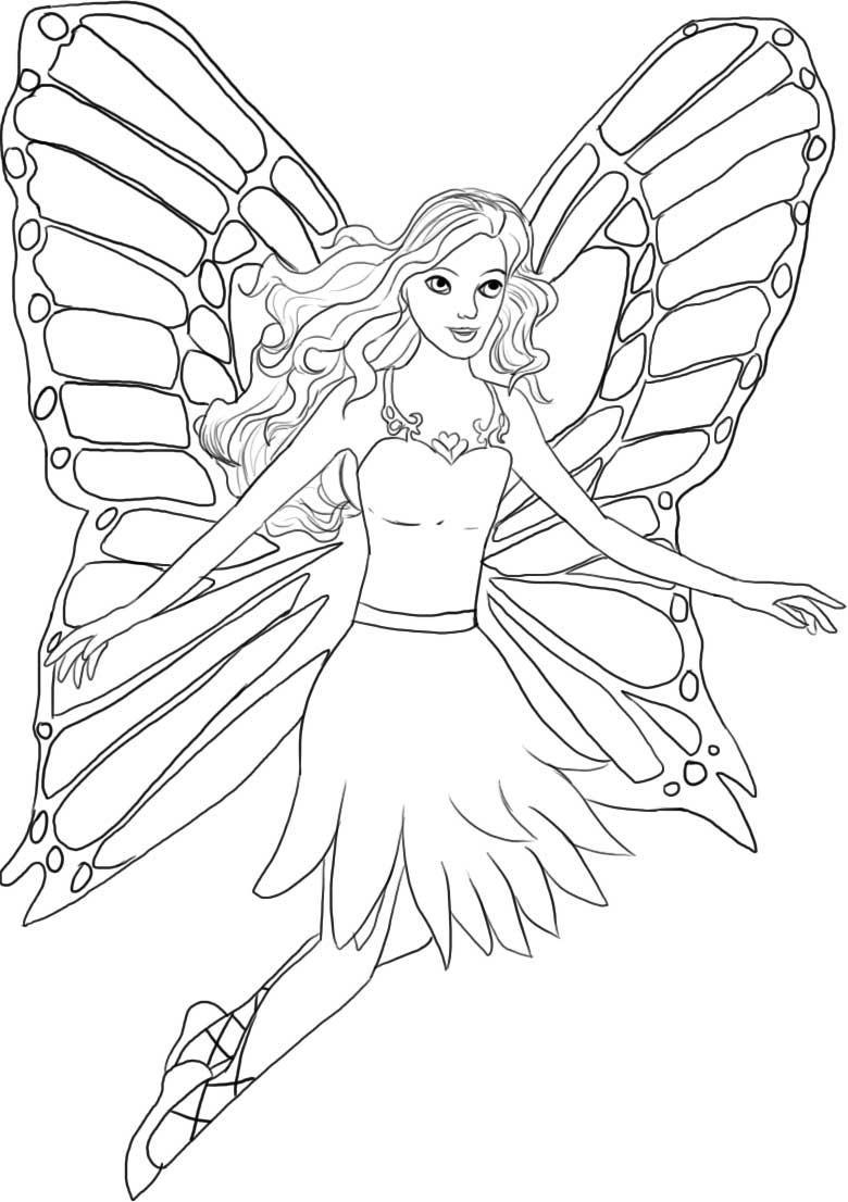 Awesome Barbie Coloring Gallery - Coloring Page Design - zaenal.us