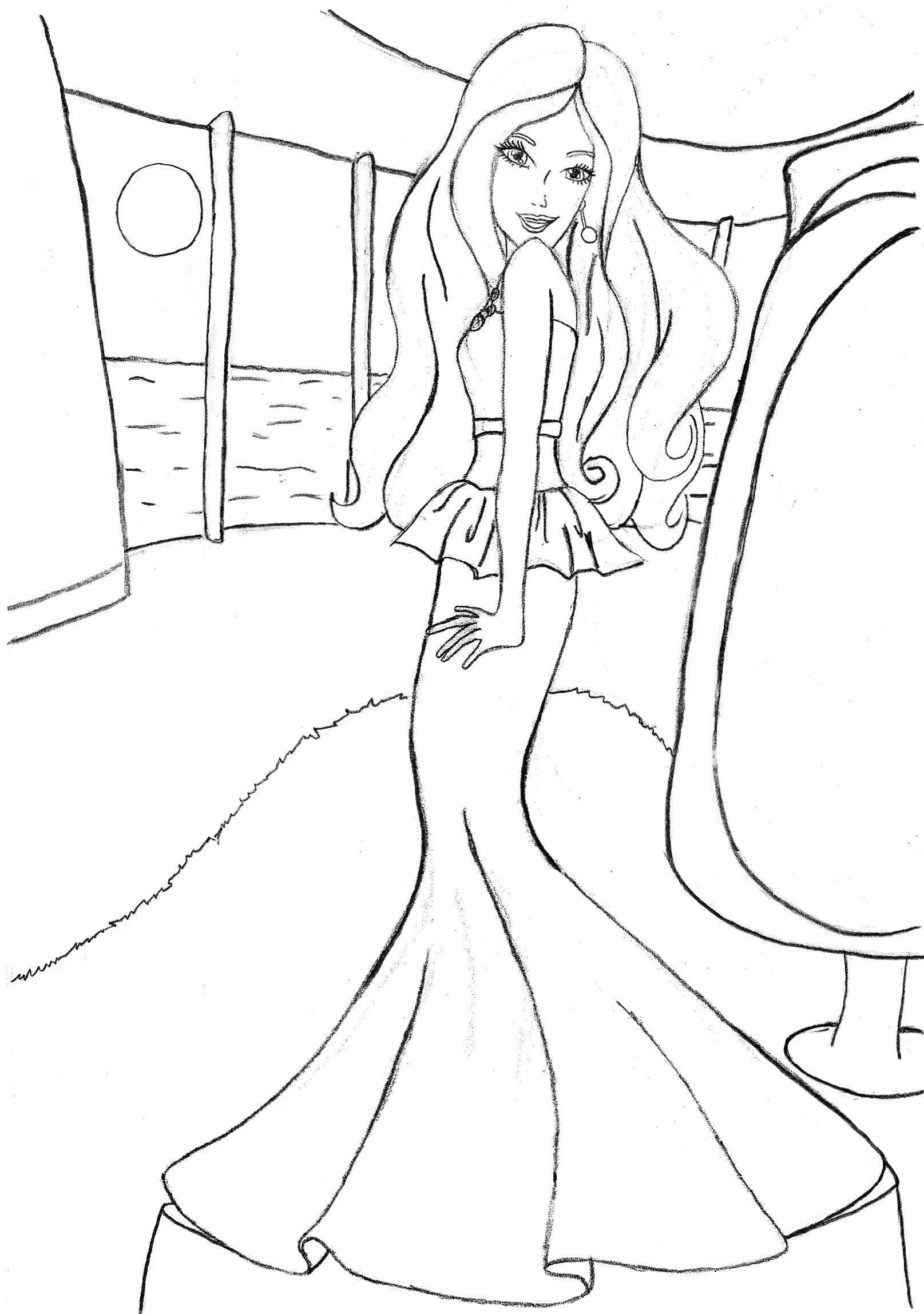 Barbie coloring pages fashion coloring home for Fashion barbie coloring pages