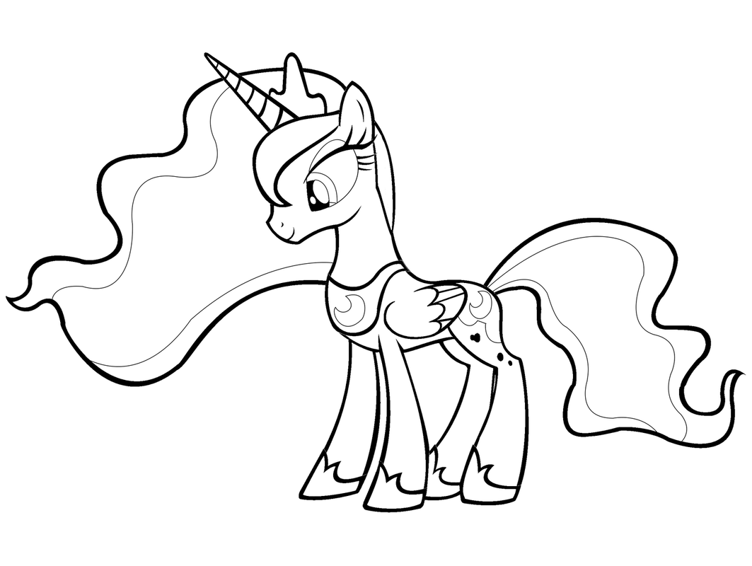 My Little Pony Prinzessin Cadance Ausmalbilder : My Little Pony Princess Luna Coloring Pages Coloring Home