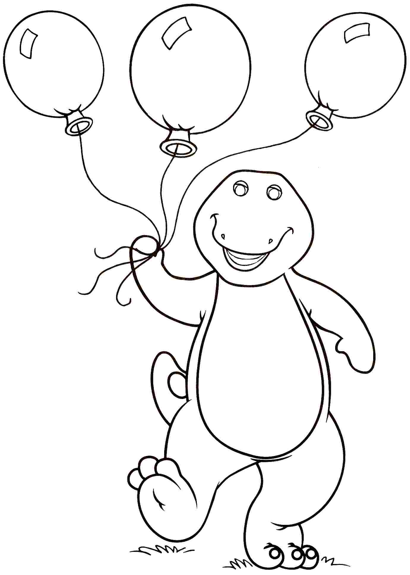 - Barney Birthday Coloring Pages - Coloring Home