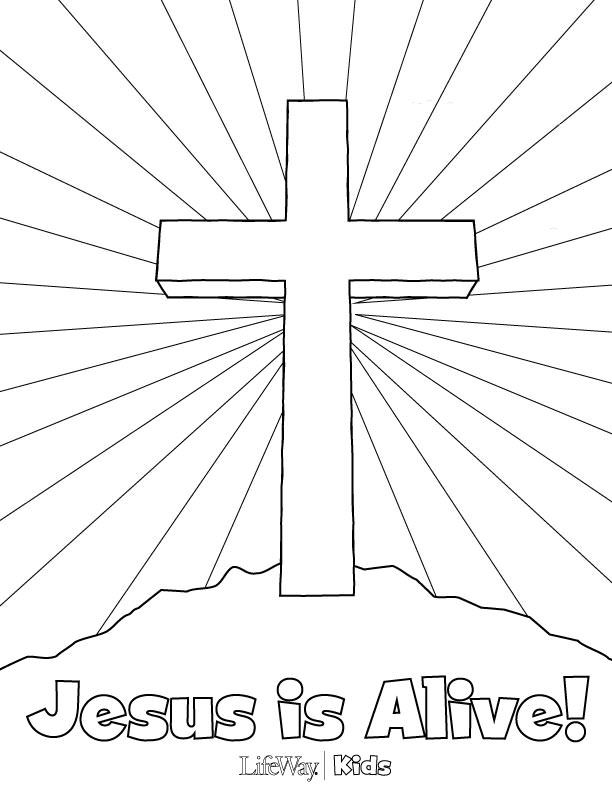 It's just an image of Mesmerizing jesus is alive coloring page