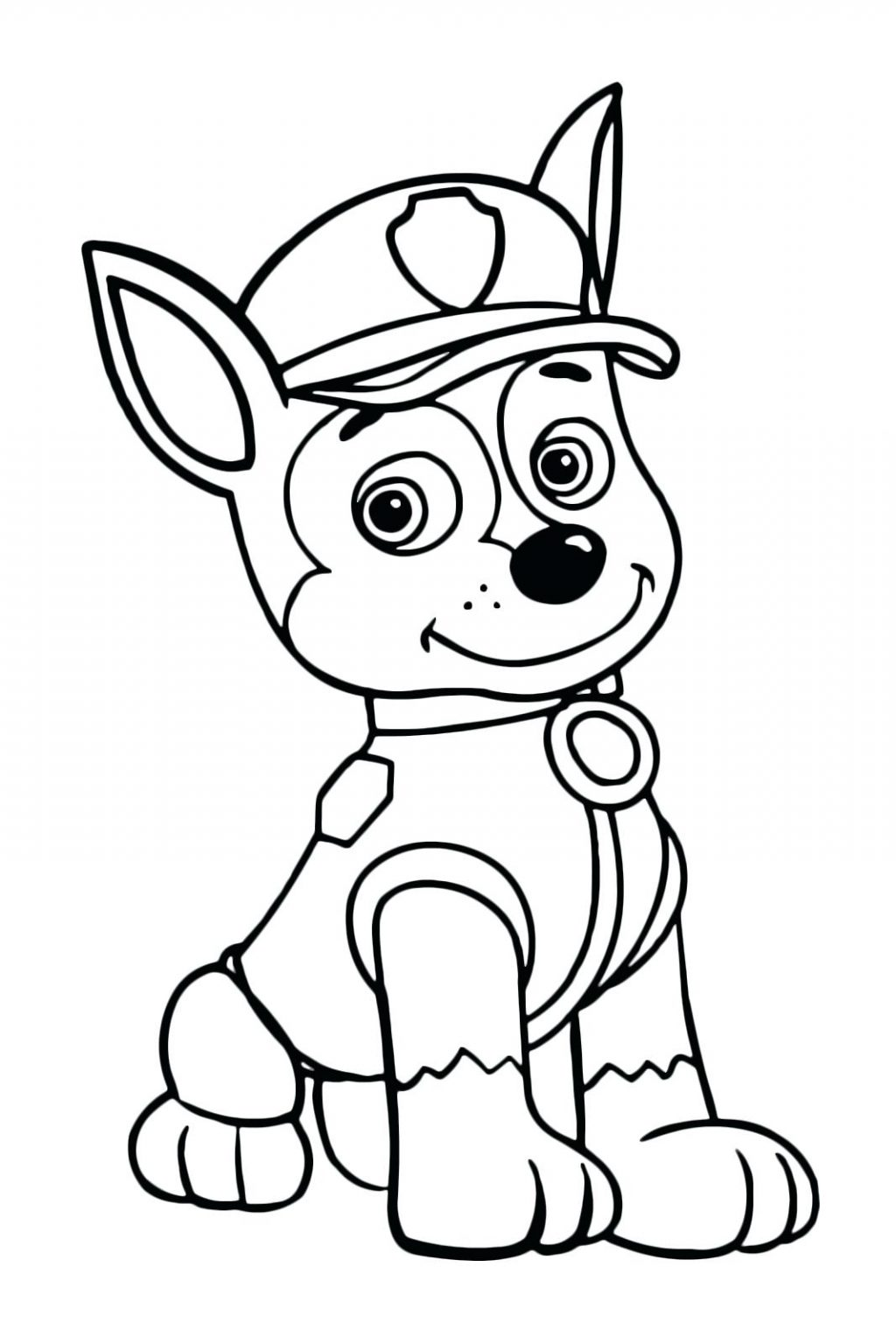 Chase Paw Patrol Coloring Pages - Coloring Home