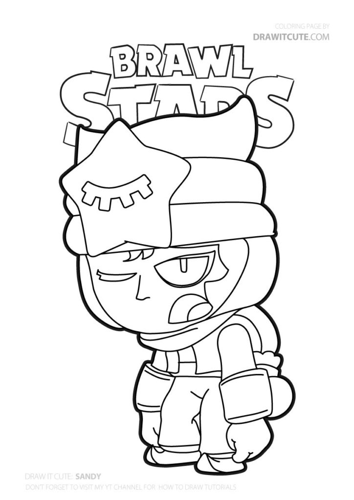 Sleepy Sandy | Brawl Stars coloring page - Color for fun ...