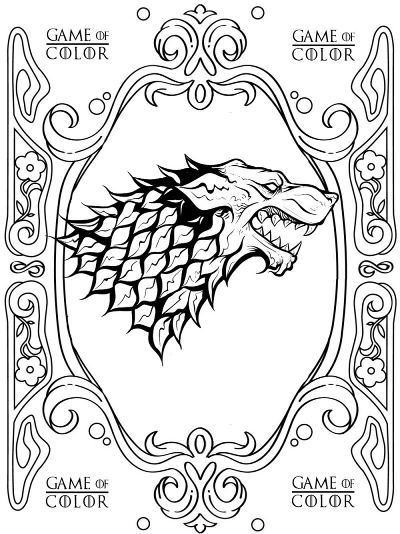Coloring Pages: Of Thrones Coloring Phenomenal Page Ones ...