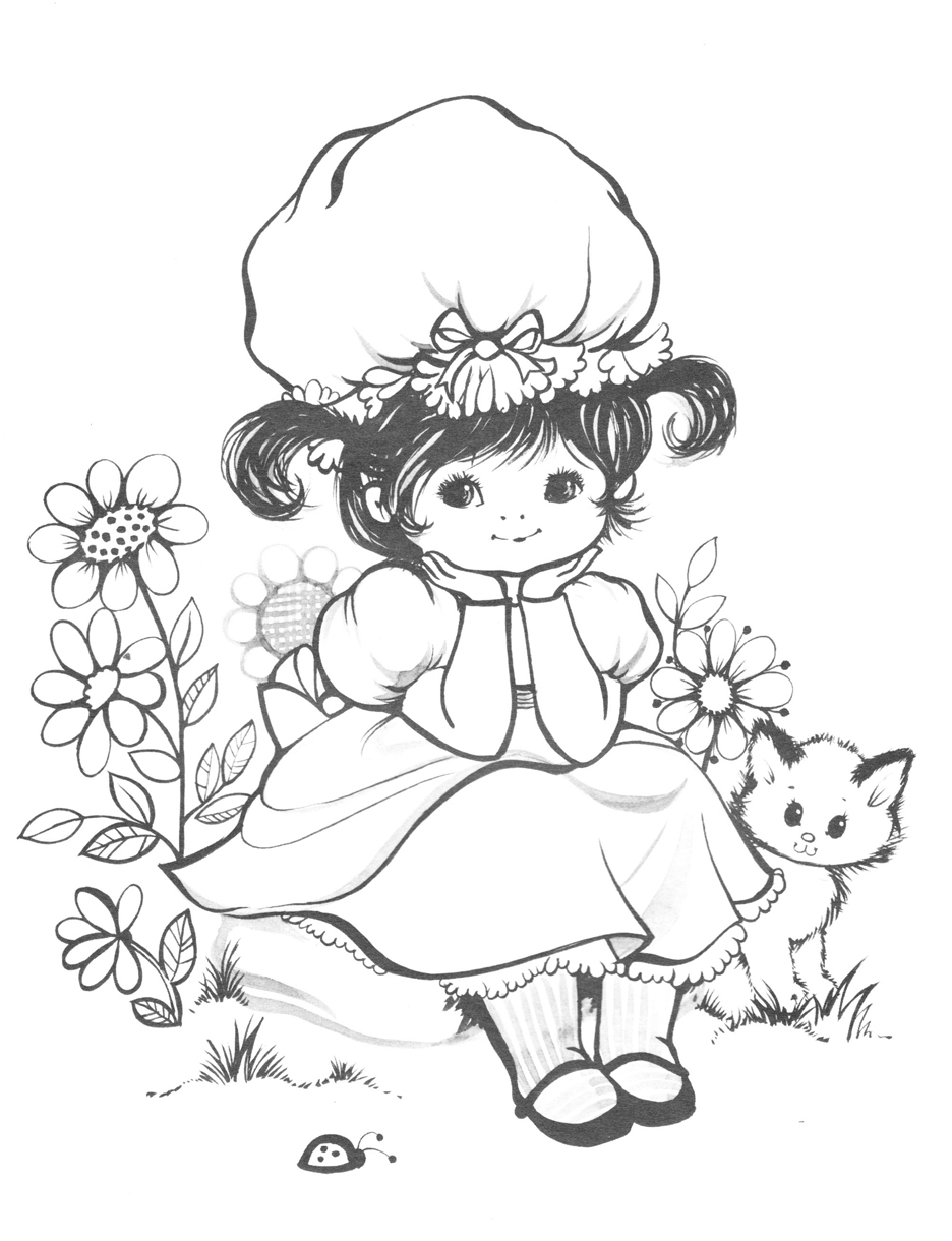 vintage coloring book pages vintage coloring pages on masivy world - Vintage Coloring Books