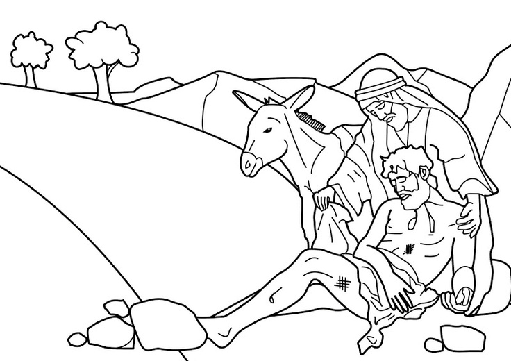 Free Bible Coloring Pages The Good Samaritan Story