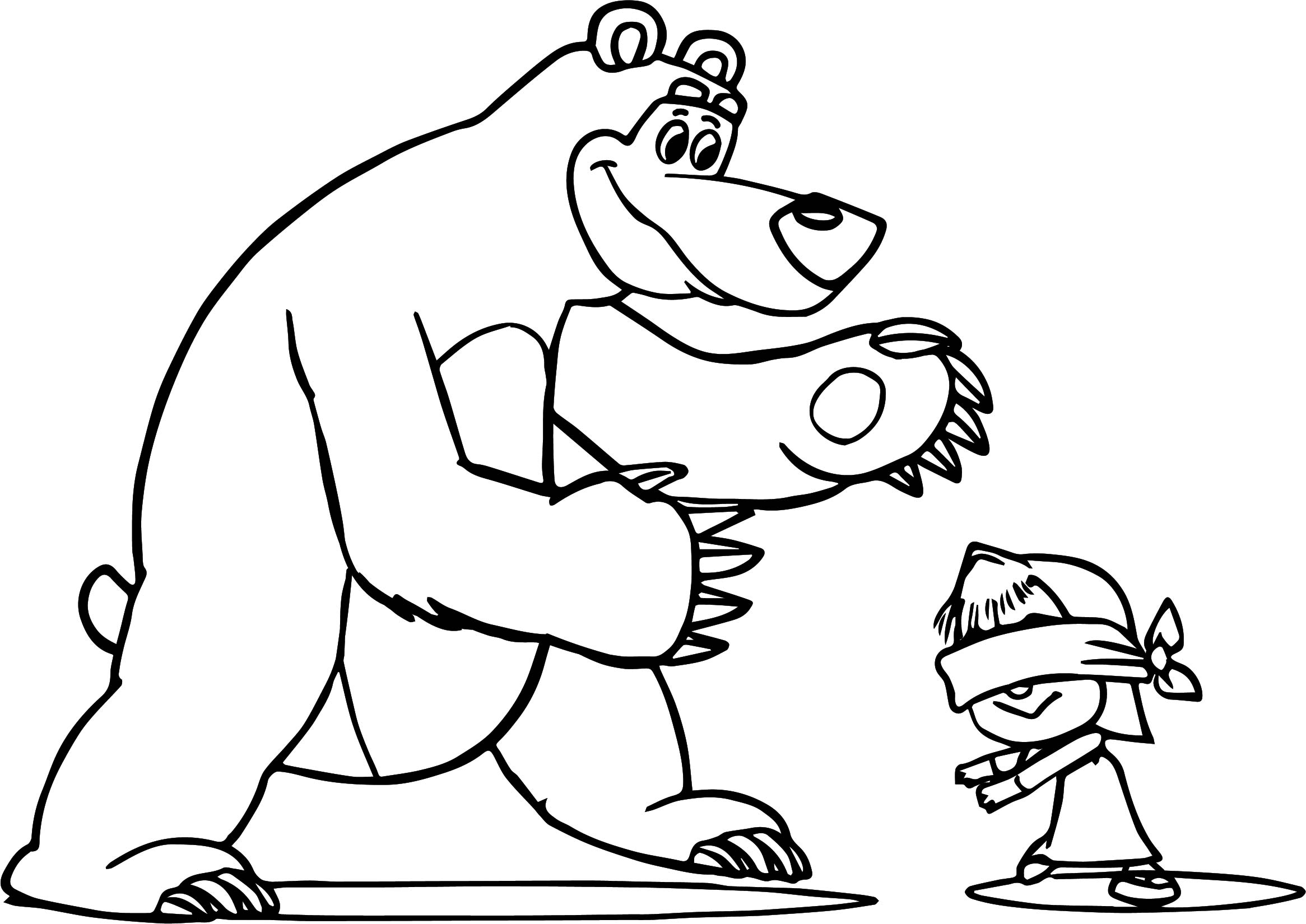 - Masha And The Bear Coloring Pages - Coloring Home