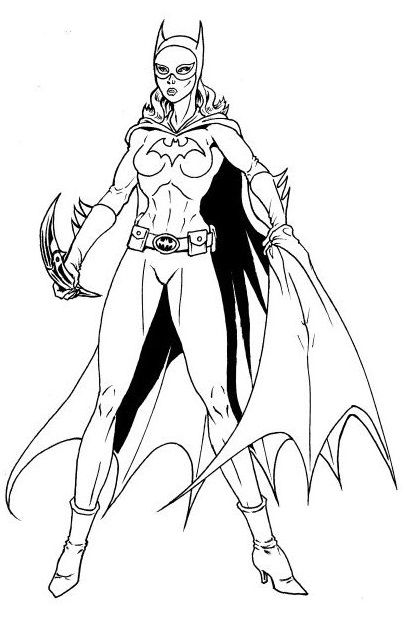 10 Beautiful Free printable Batgirl Coloring Pages Online ...
