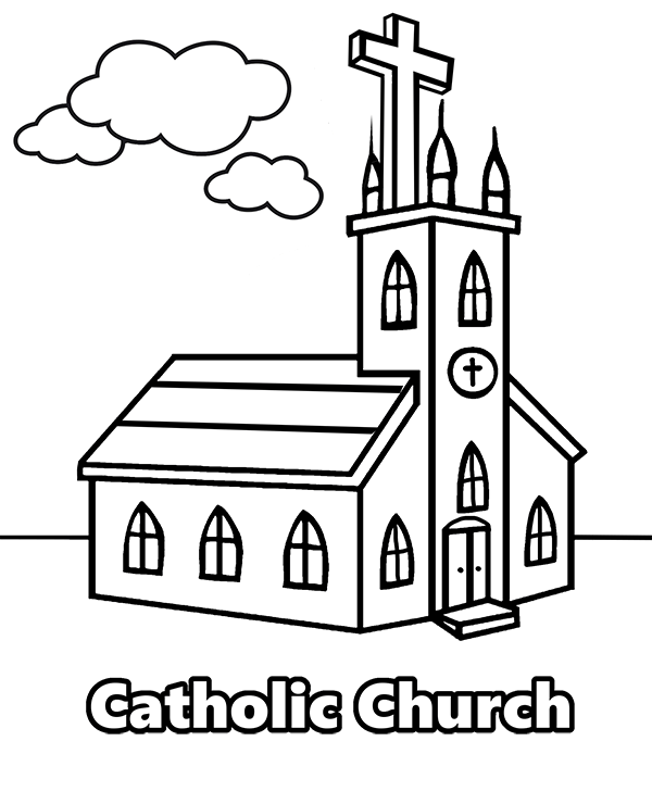Catholic Church Coloring Pages Coloring Home