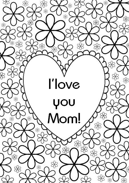 Adult Coloring Pages Happy Mothers Day
