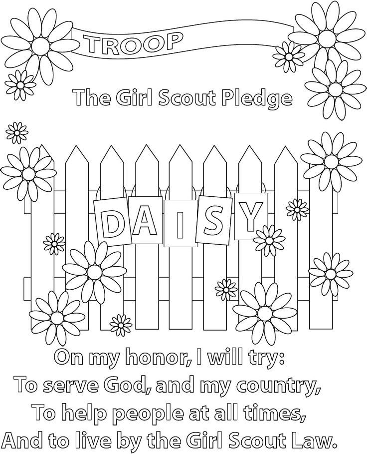 It is a graphic of Exceptional Daisy Scouts Coloring Pages