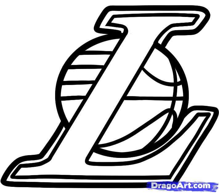 lakers logo coloring pages - photo#2