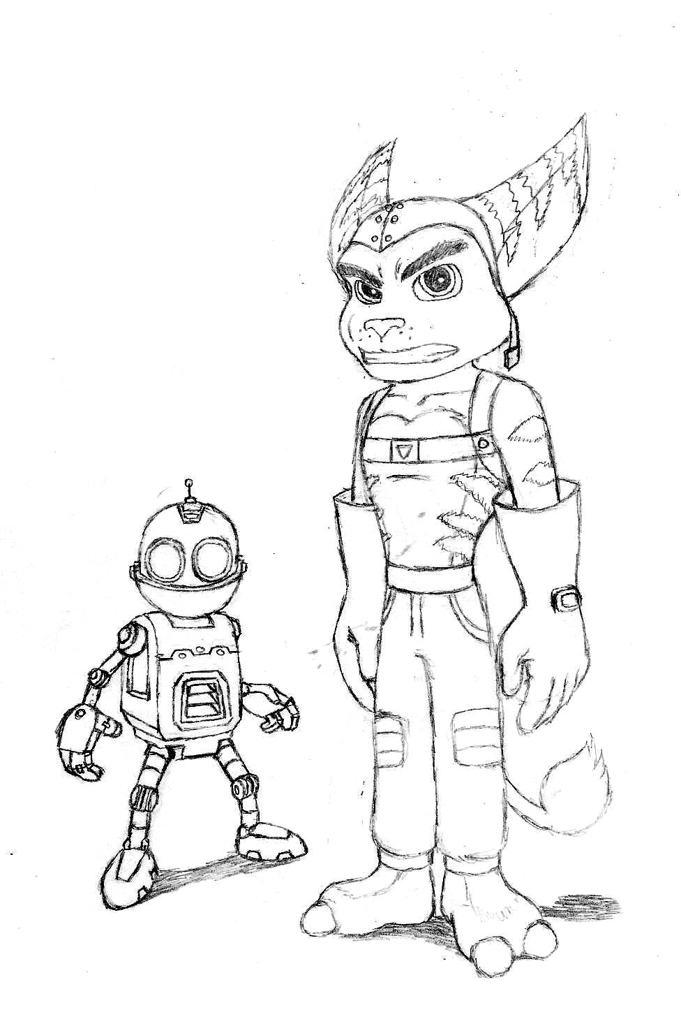 Ratchet And Clank Coloring Pages