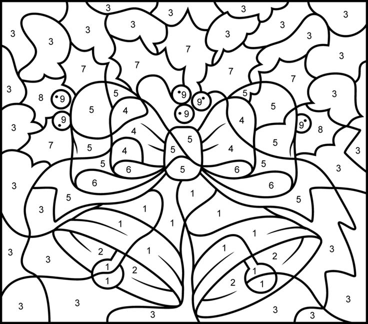 free printable color by number sheets az coloring pages : Christmas ...