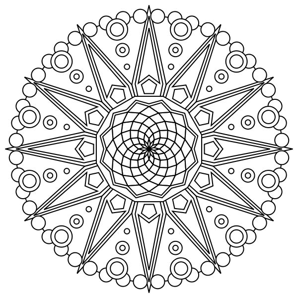 fractal coloring pages for kids - photo#5