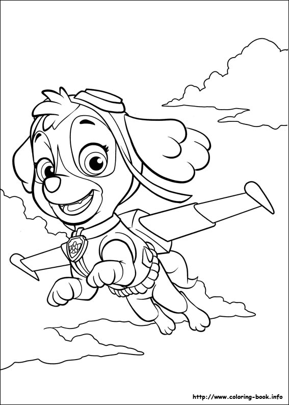 Easter Coloring Pages Paw Patrol : Free coloring pages of skye paw patrol