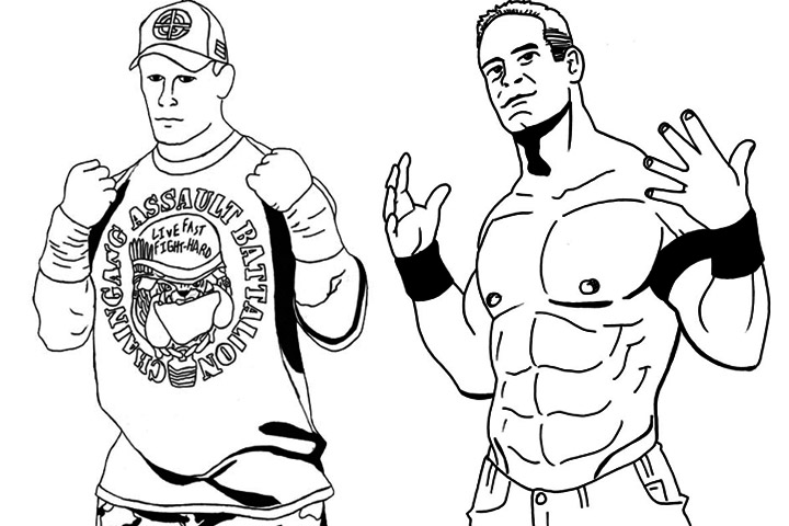 printable john cena coloring pages - photo#14