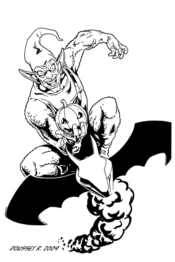 Spiderman Green Goblin Coloring Pages - AZ Coloring Pages