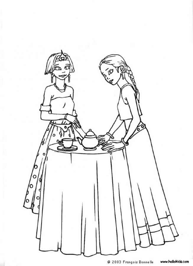 - Printable Tea Party Coloring Pages - Coloring Home