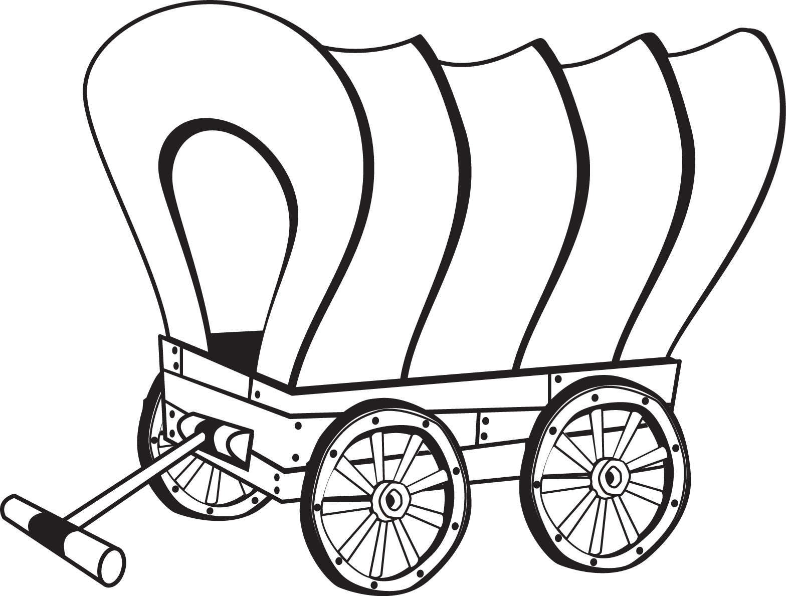 Covered wagon coloring pages coloring home