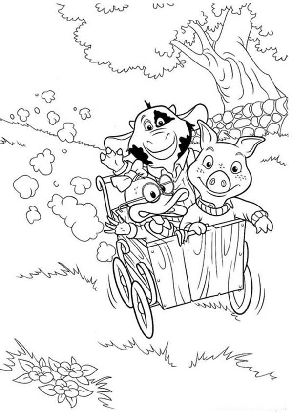 Piggly Wiggly Coloring Pages Coloring Home