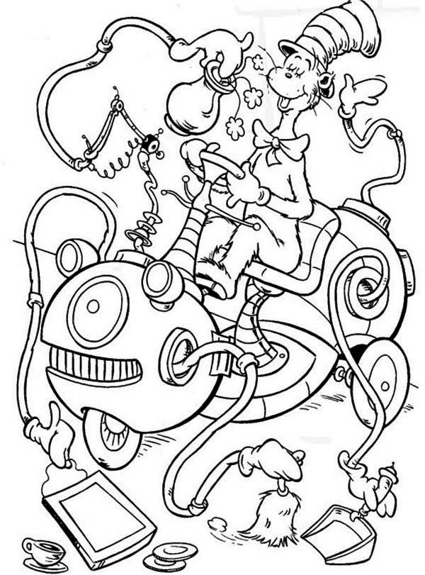 Cat In The Hat Coloring Pages - Kidsuki