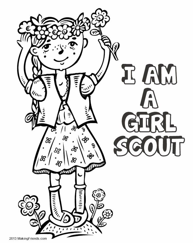 Girl Scout coloring pages | Girl ...