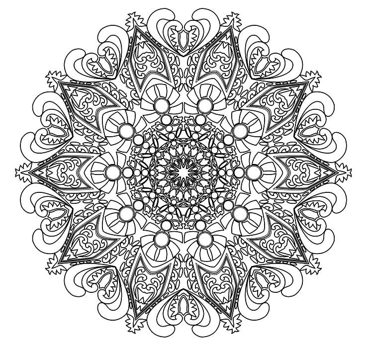 intricate mandala coloring pages free - photo#30