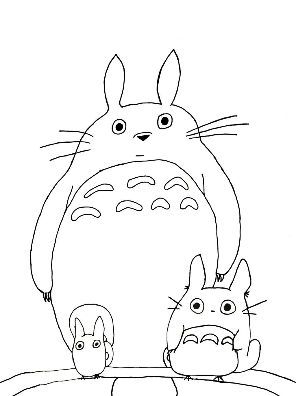 Totoro Coloring Pages Coloring Home