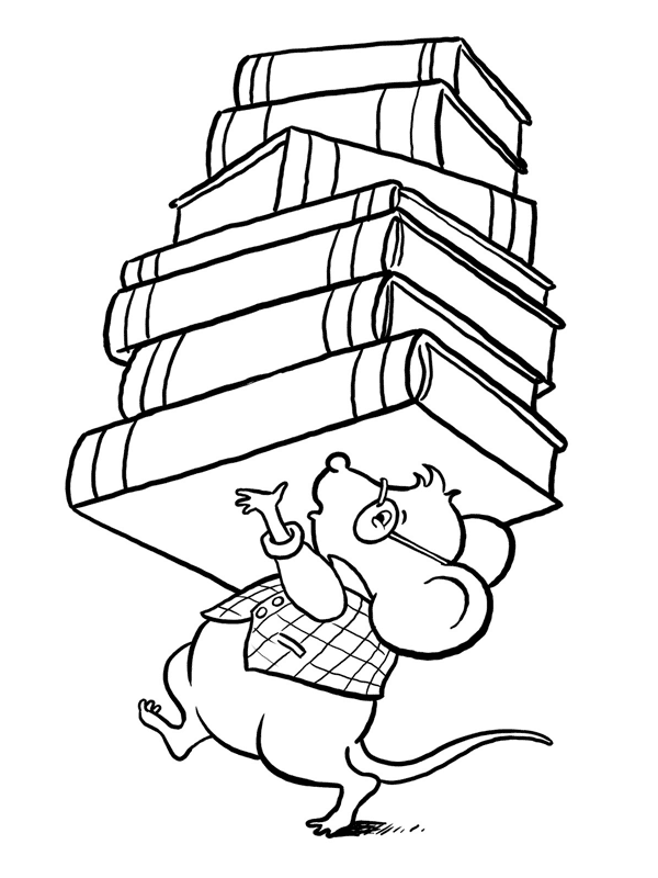 A Pile Of Books Coloring Page Book Pages Open Clip Art