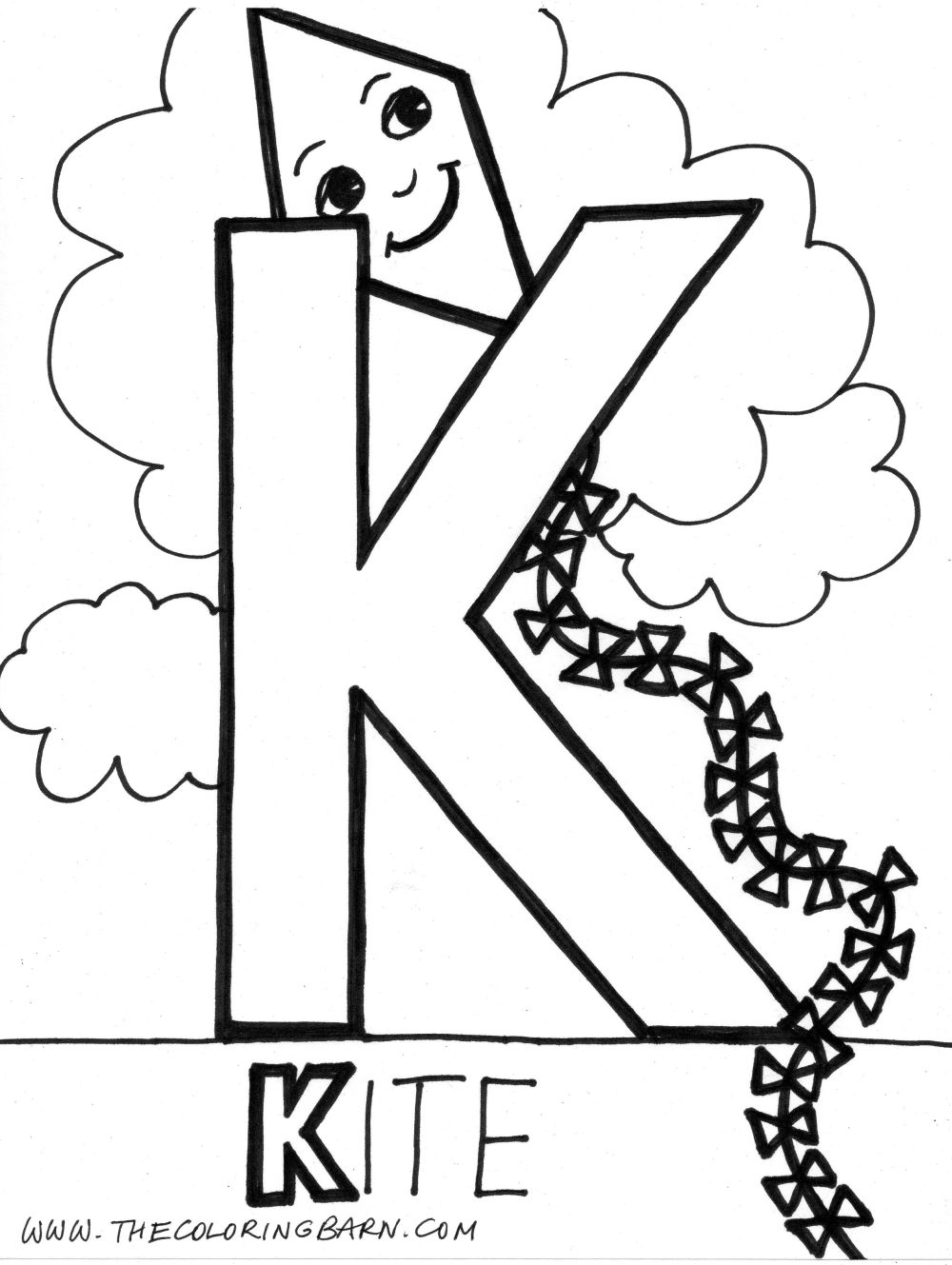 Letter K Coloring Pages Only Coloring Pages Coloring Home The Letter K Coloring Pages