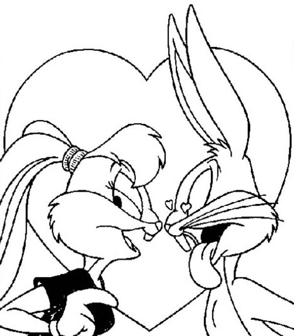 Bugs Bunny And Lola Bunny Coloring