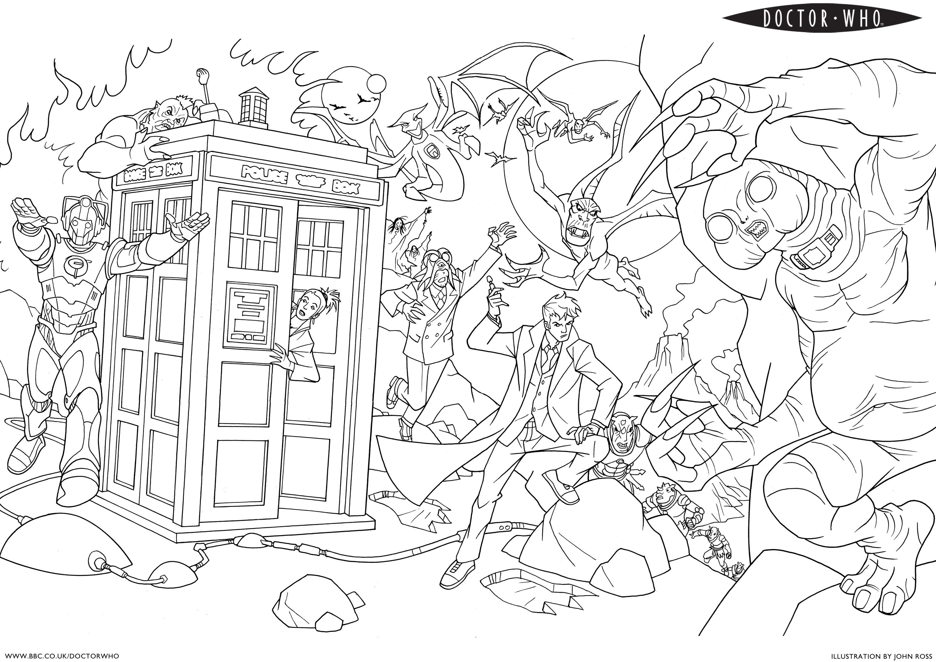 Doctor Who Coloring Pages Coloring Home Coloring Pages Doctor Who