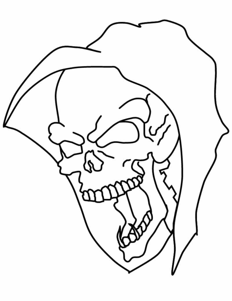 Free Coloring Pages Halloween Masks : Halloween Scary Masks Coloring Pages AZ Coloring Pages