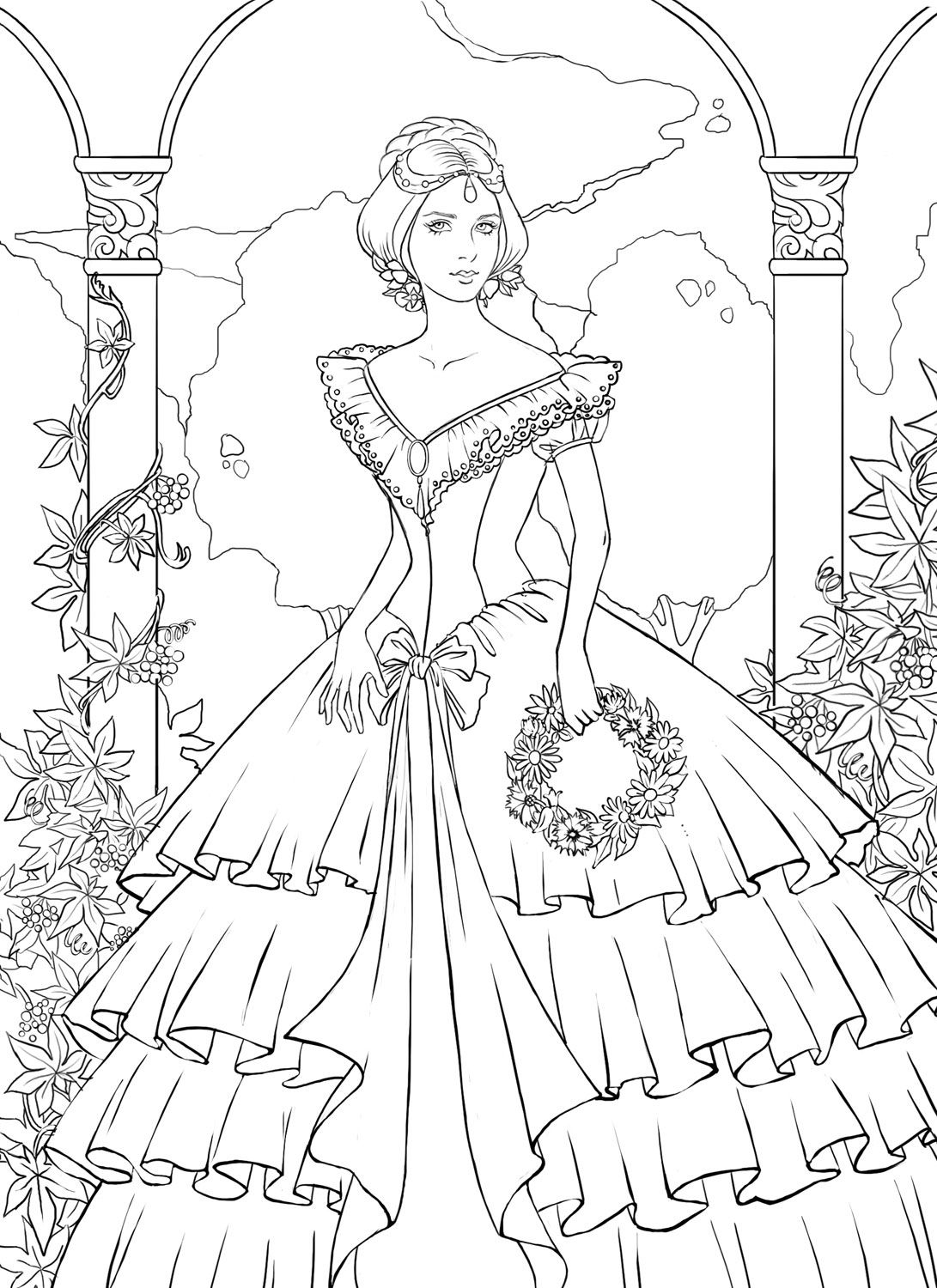 Coloring Page Landscape - Detailed landscape coloring pages for adults coloring online