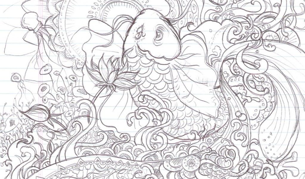 Printable Koi Fish Coloring Pages Free Coloring Pages For Kids