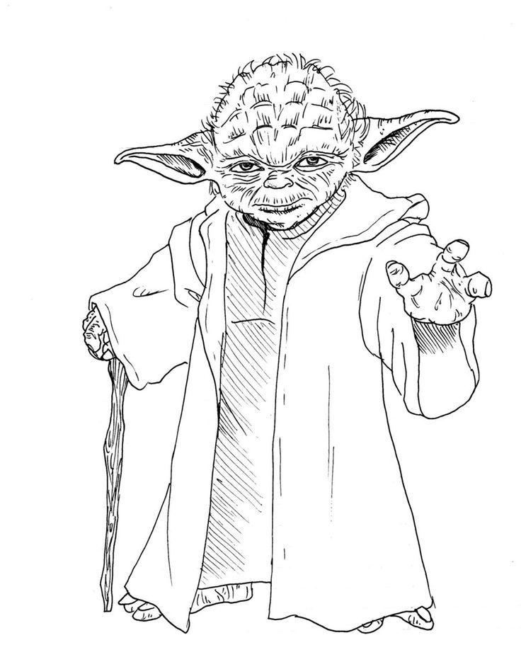 Star wars coloring pages yoda coloring home for Yoda coloring pages