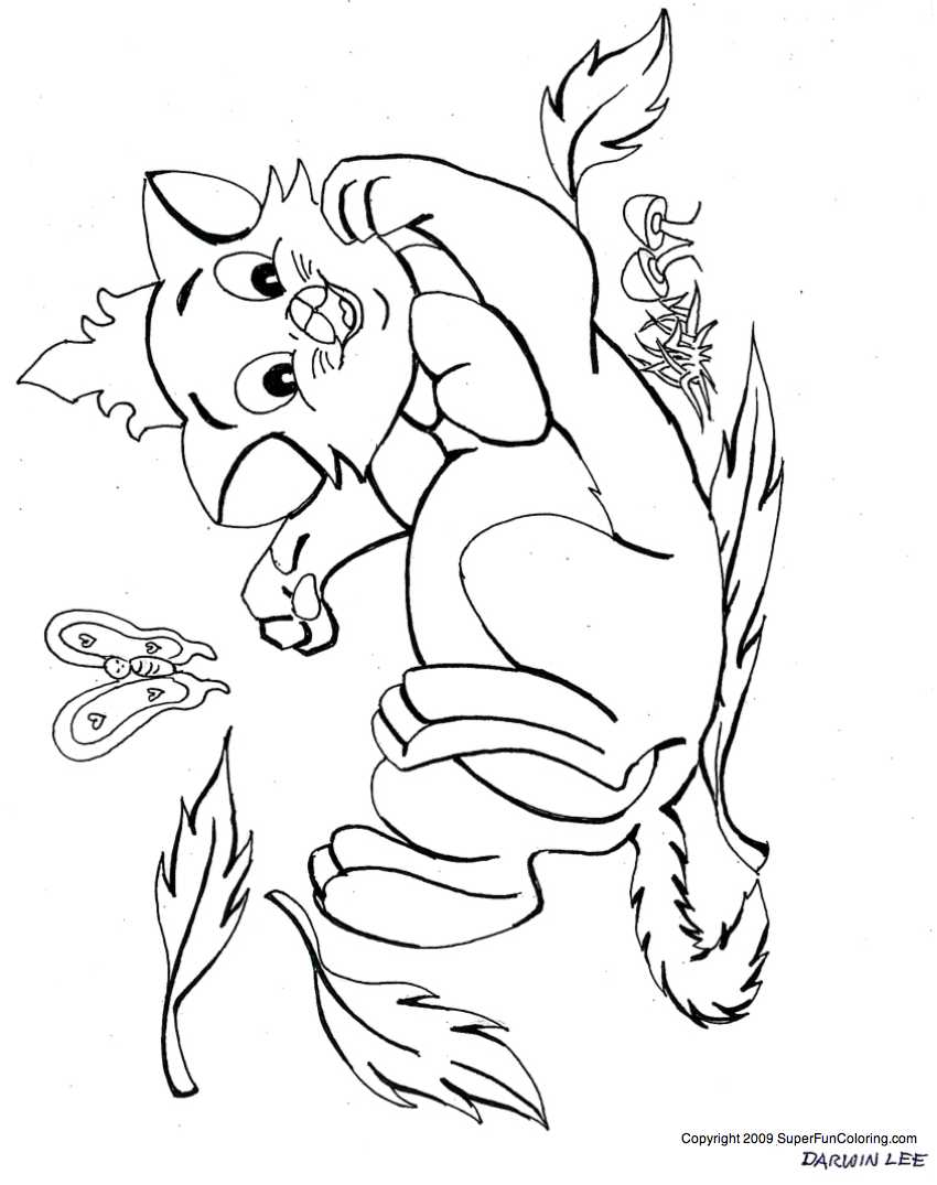 Kitten Coloring Pages - Cat Coloring Pages - Coloring Home