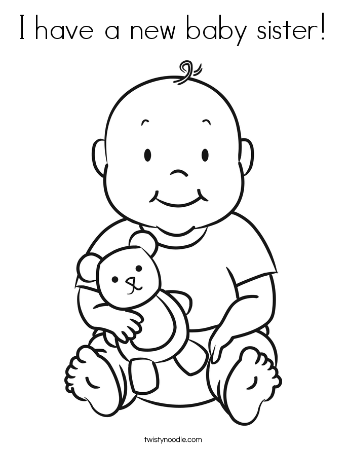 I Have A New Baby Sister Coloring Page - Twisty Noodle ...