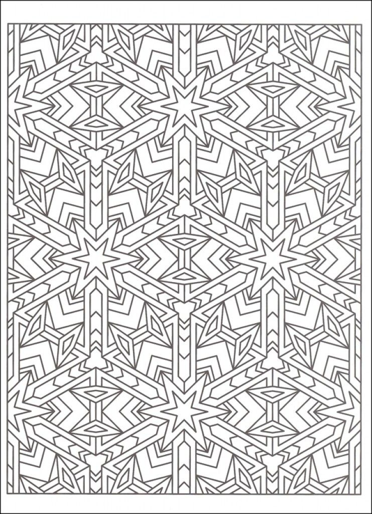 Worksheets Tessellation Worksheets To Color free tessellations coloring pages az worksheets to color for kids and