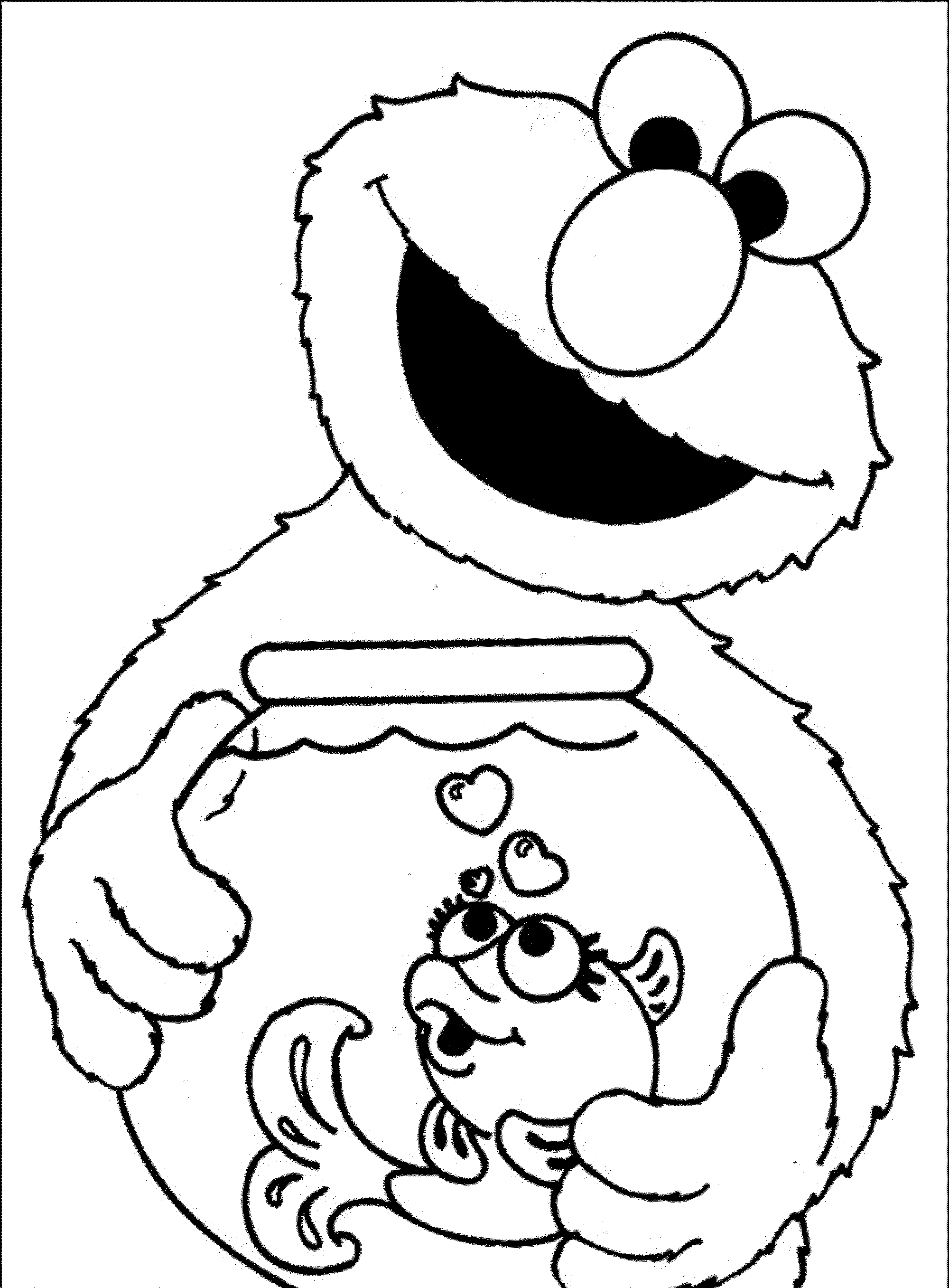 sesame street coloring pages elmo coloring home