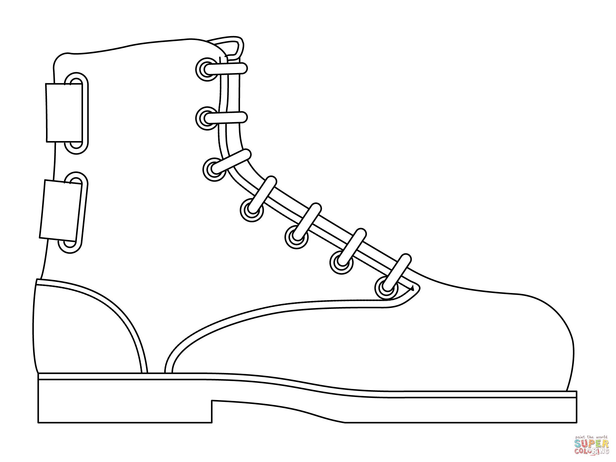 Jordan Shoe Coloring Page