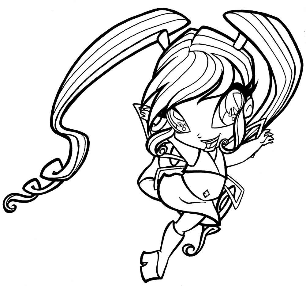 Winx Club Pixies Coloring Pages - Coloring Home