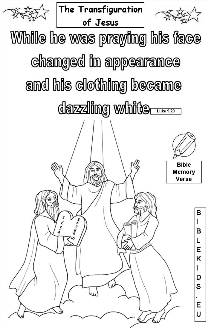 Free Coloring Pages Jesus Transfiguration - BWWM.TEAM ...