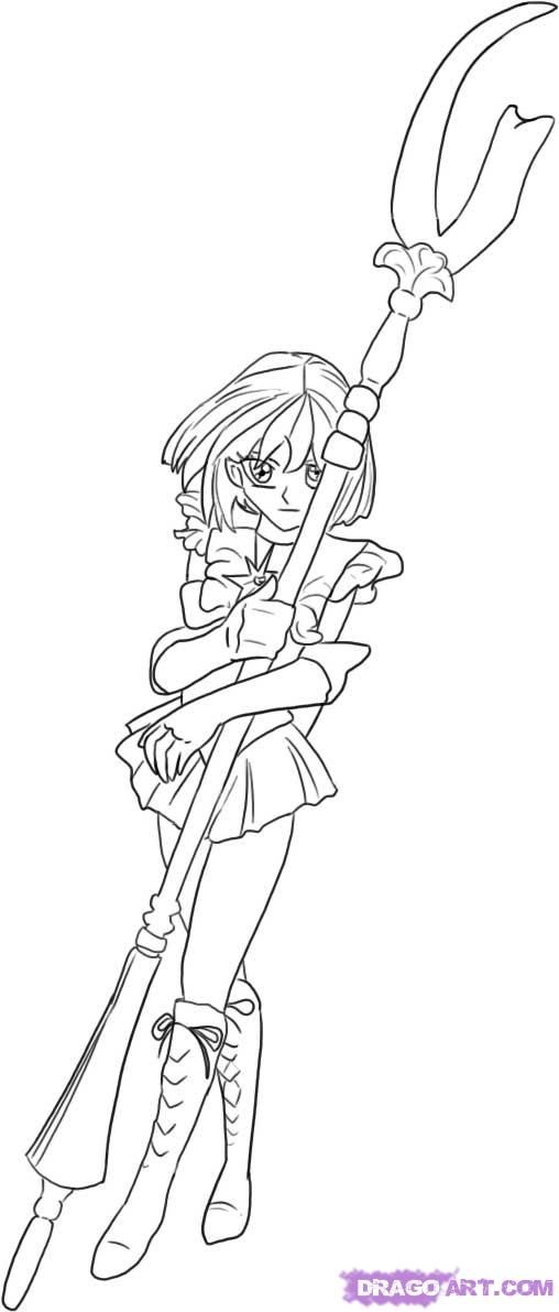 sailor moon coloring pages saturn - photo#17