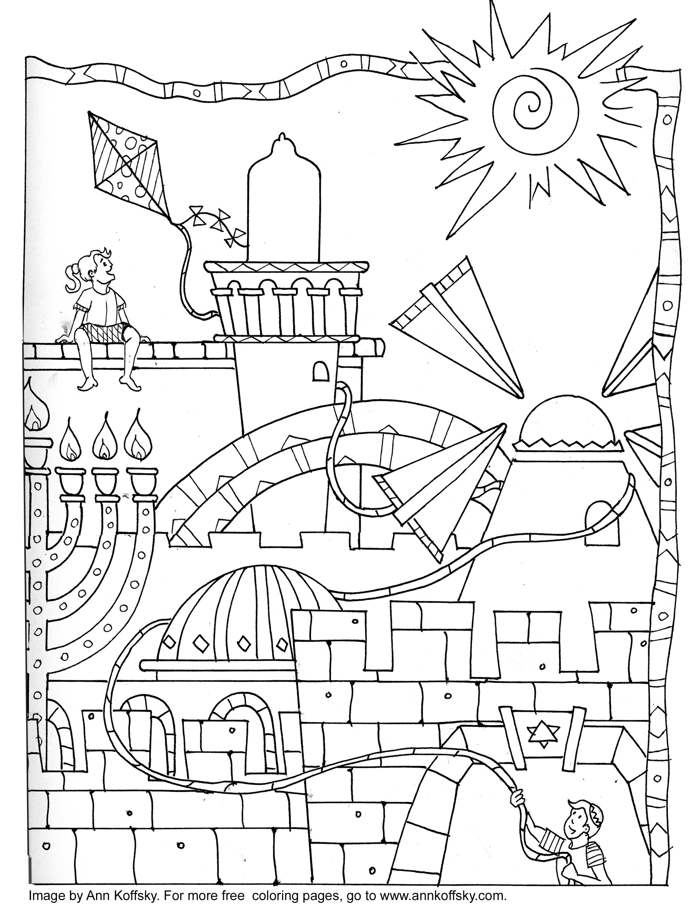 Coloring Page- 9 Days | Flag coloring pages, Coloring pages, Jewish crafts