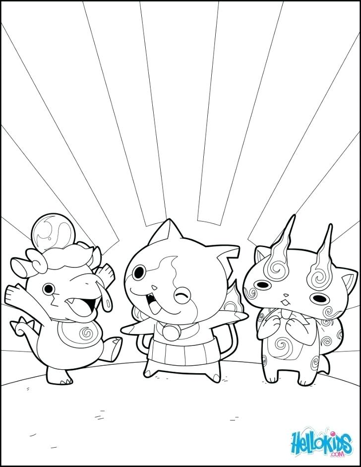 Yo Kai Watch Coloring Pages To Print From Jenett Co Coloring Home