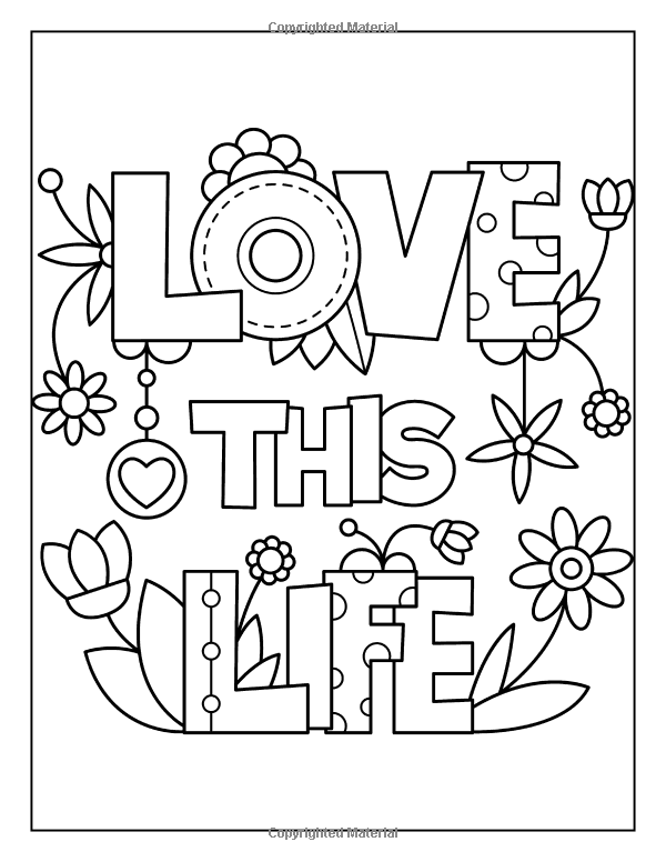 Easy Positive Quotes Coloring Pages - Coloring Home